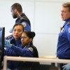 Image: TSA officers look at an X-ray screen at a passenger security checkpoint at Newark Liberty International Airport in New Jersey