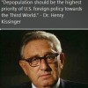 Depopulation Agenda - Henry Kissinger Quote