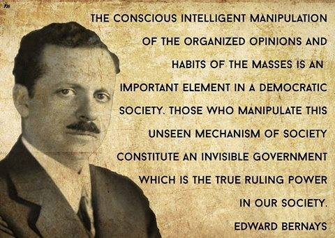 BRAINWASHED Edward ed Bernays Mind Control Propaganda quotes quote